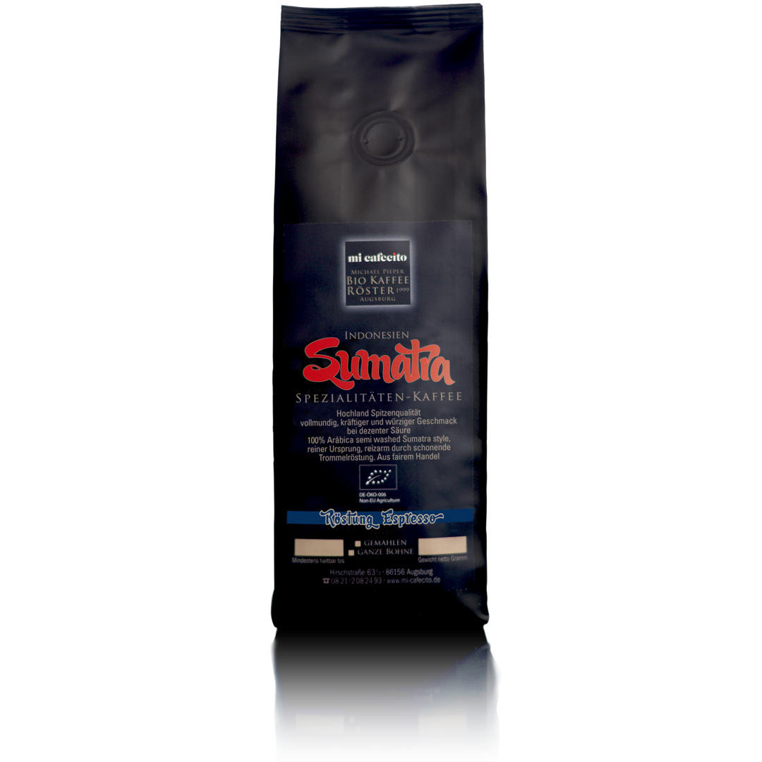 bio sumatra espresso 250g mi cafecito michael pieper. Black Bedroom Furniture Sets. Home Design Ideas